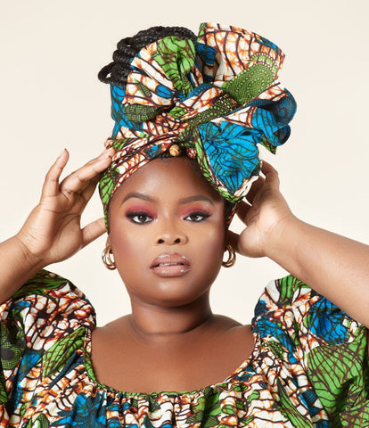 African print headwrap