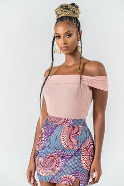 Grass-Fields African midi skirt African Print Jaya Mini Skirt