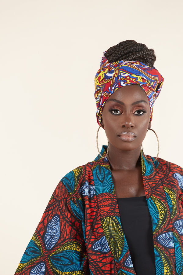 Grass-fields African Print Caitlin Headwrap