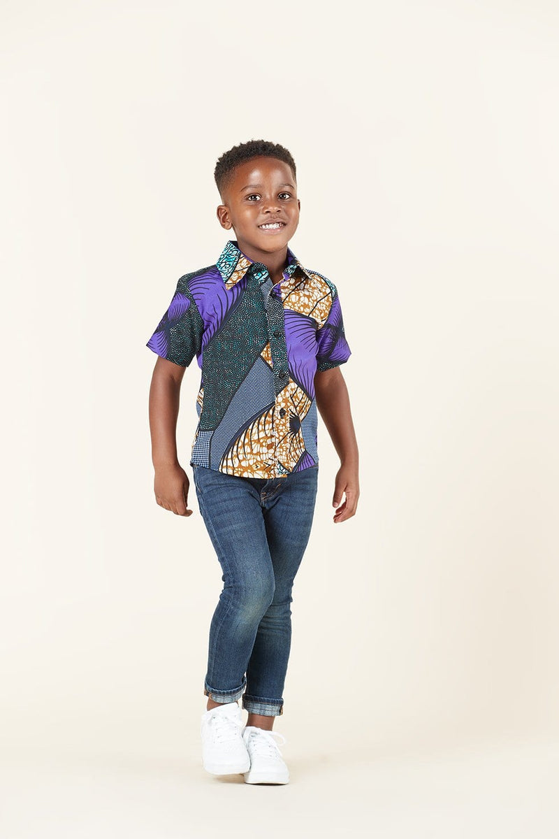 Grass-Fields African Print Hakeem Kid's Shirt