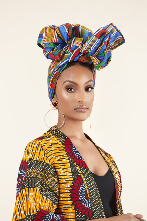 Grass-fields African Print Janyce Headwrap