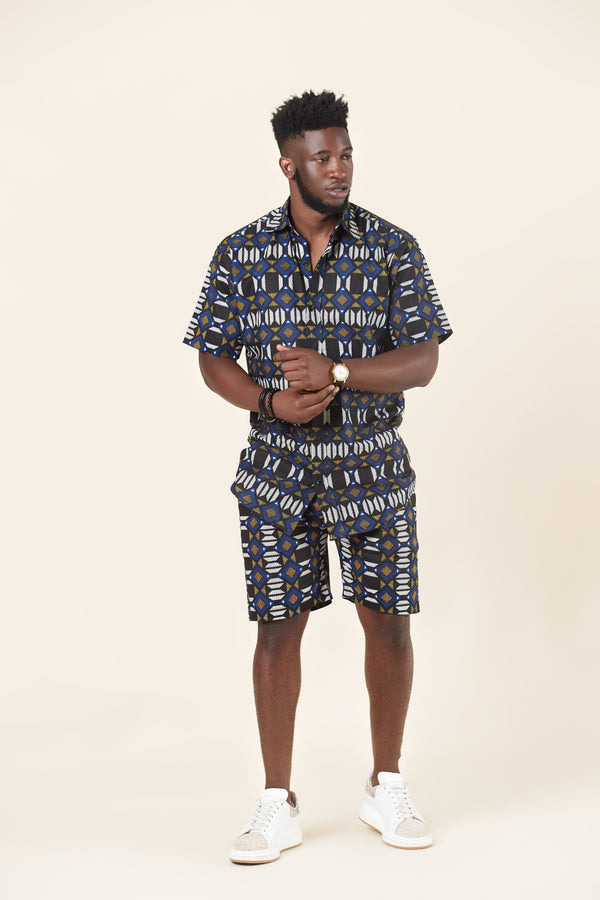 Grass-fields African Print Noah Short
