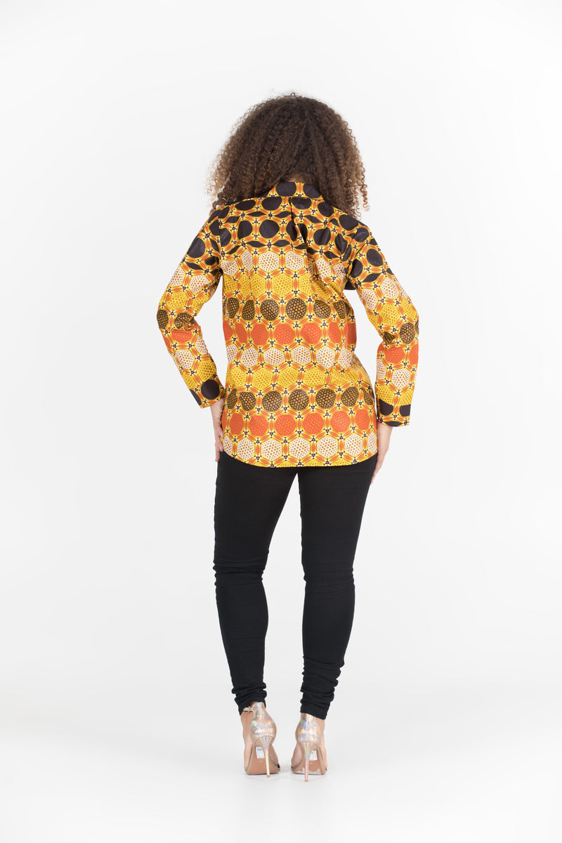 Grass-Fields African Print Top African Print Chidi Shirt
