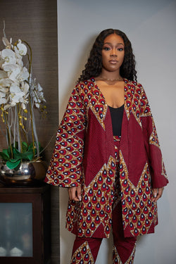 Grass-Fields African Print Top African print Kitoko Kimono Top