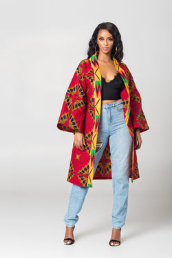 Grass-Fields African Print Top African print Nadine Kimono Top
