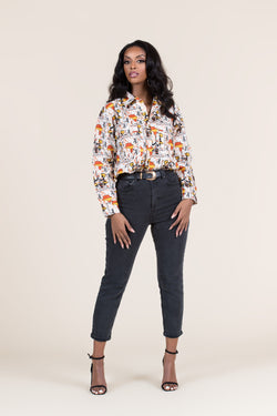 Grass-Fields African Print Top African Print Saidah Shirt