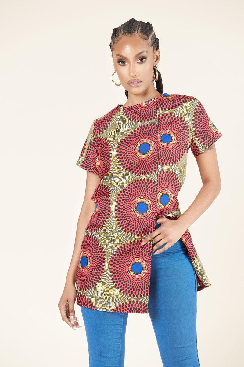 African print Vale Top