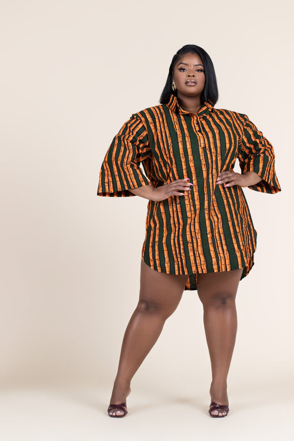 Grass-Fields African Print Top African Print Zuwena Shirt