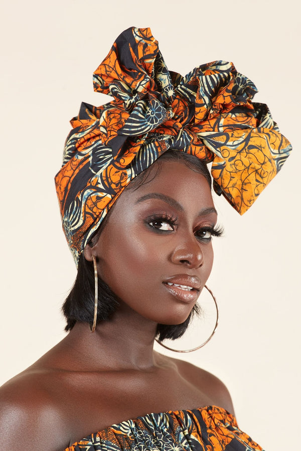 Grass-fields headwrap African Print Aicha Headwrap