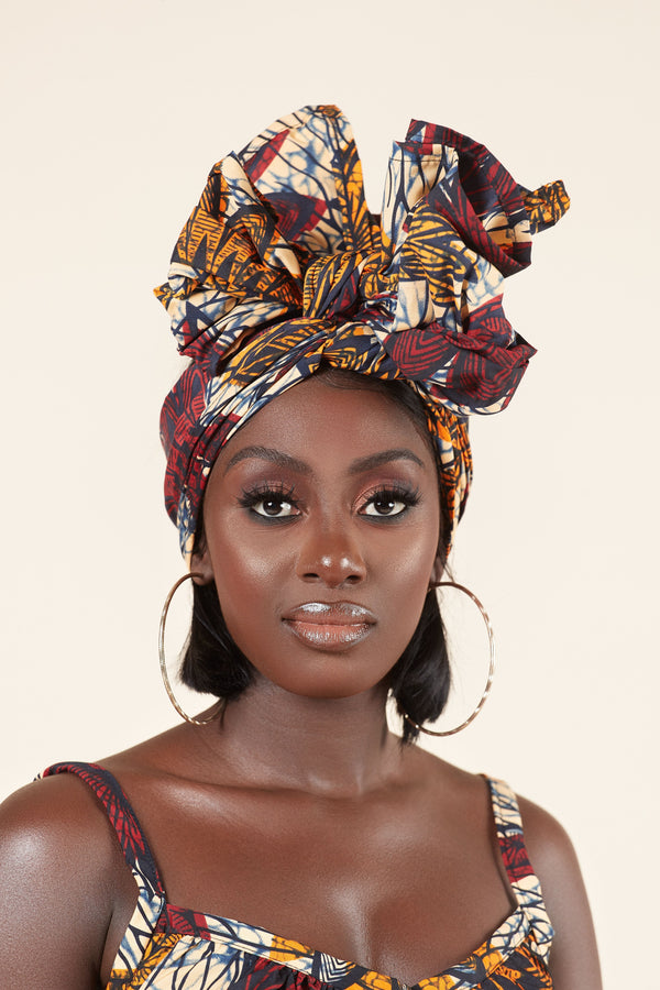 Grass-fields headwrap African Print Ashley Headwrap