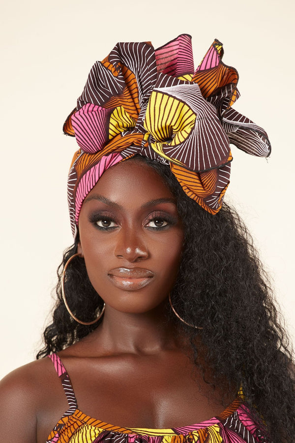 Grass-fields headwrap African Print Azza Headwrap