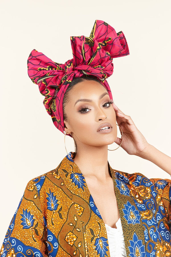 Grass-fields headwrap African Print Bitouba Headwrap