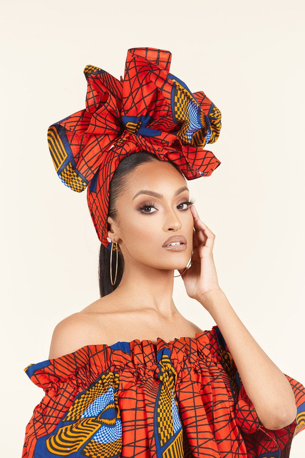 Grass-fields headwrap African Print Cece Headwrap