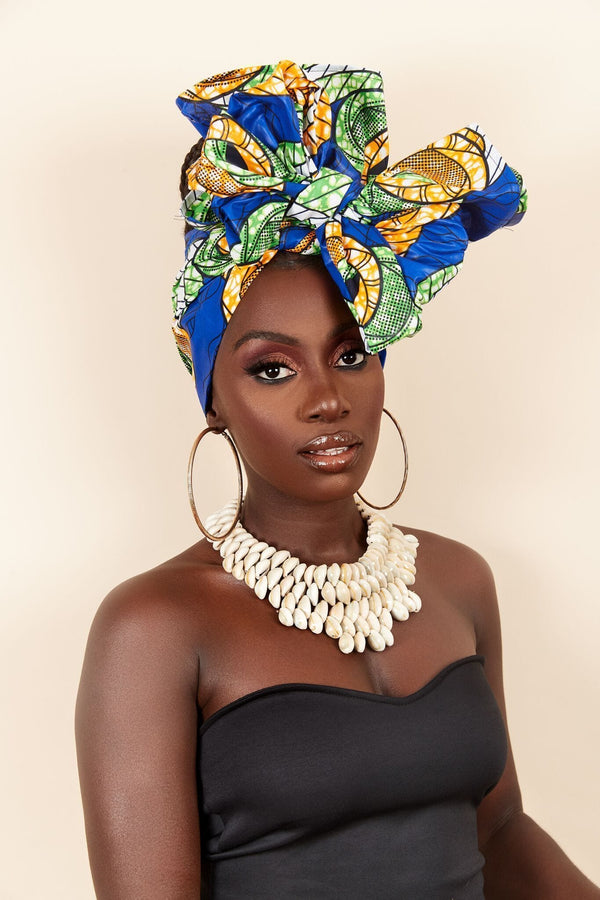 Grass-fields headwrap African Print Cyrille Headwrap