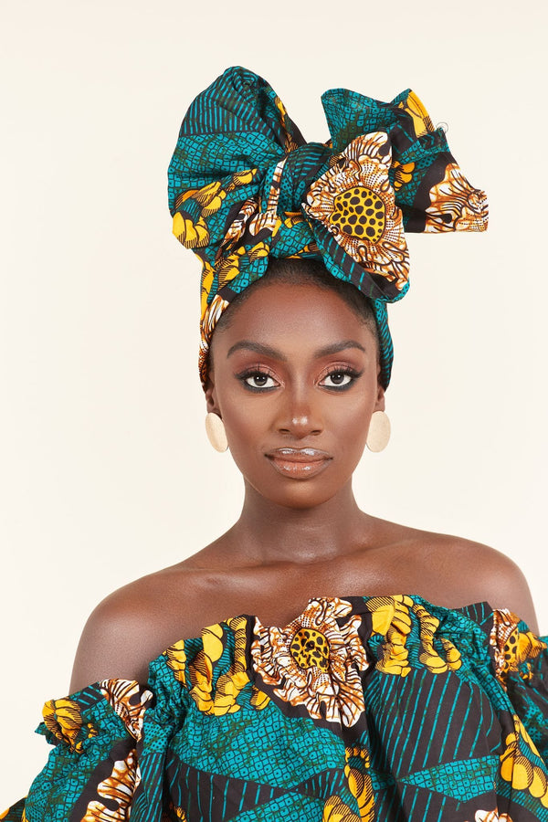 Grass-fields headwrap African Print Djamila Headwrap