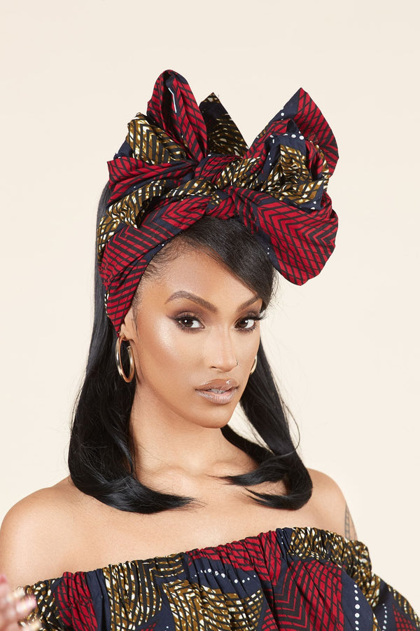 Grass-fields headwrap African Print Dola Headwrap