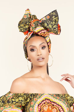 African Print Dove Headwrap