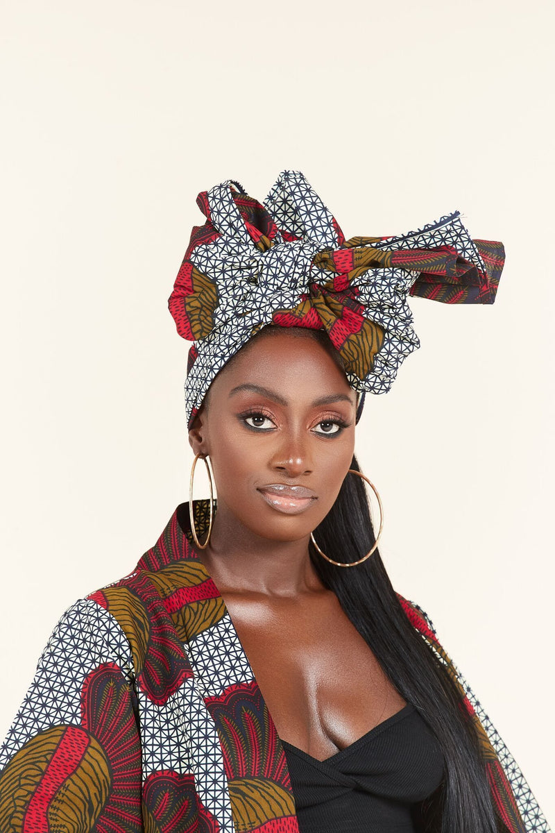 Grass-fields headwrap African Print Fleur Headwrap