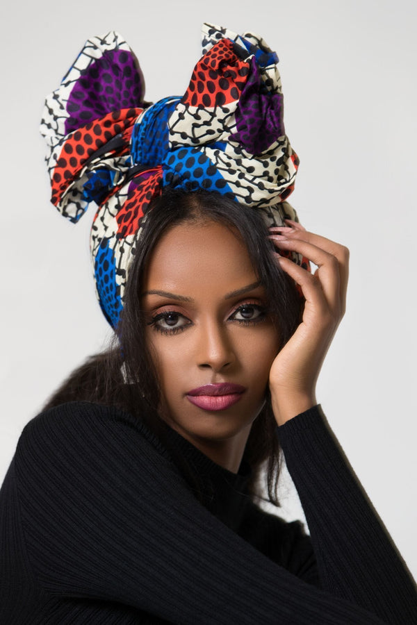 Grass-Fields headwrap African Print Halona Headwrap