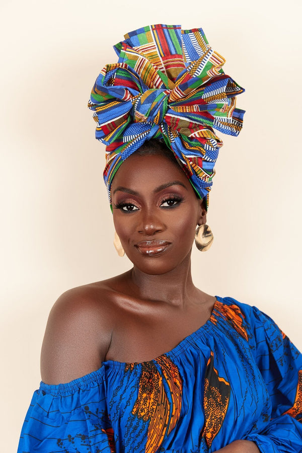 Grass-fields headwrap African Print Janyce Headwrap