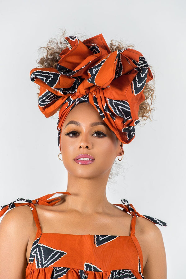 Grass-Fields headwrap African Print Kenza Headwrap