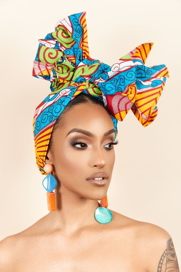 Grass-Fields headwrap African Print Michelin Headwrap