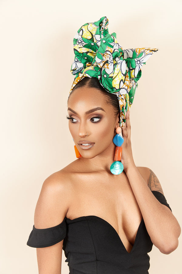 Grass-fields headwrap African Print Nadege Headwrap