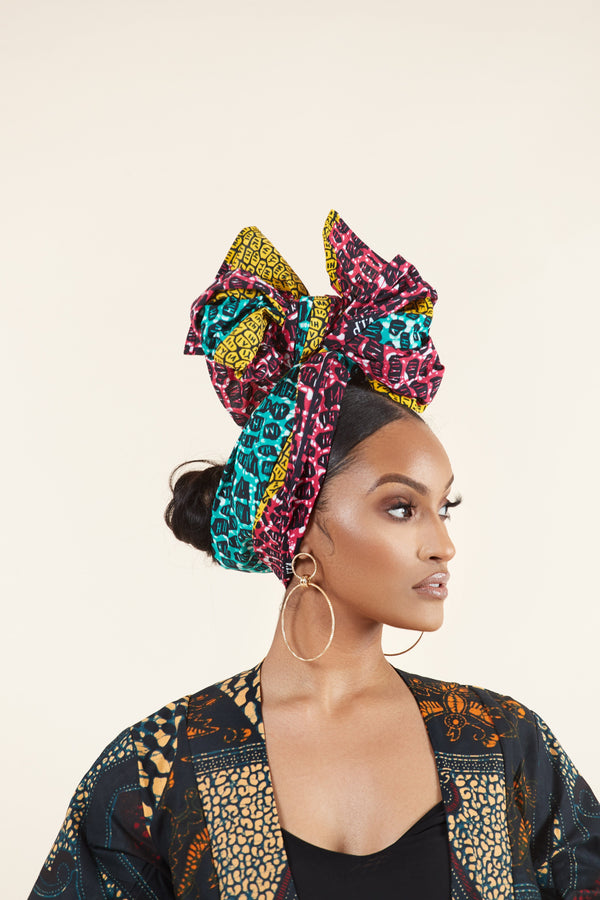 Grass-Fields headwrap African Print Nicole Headwrap