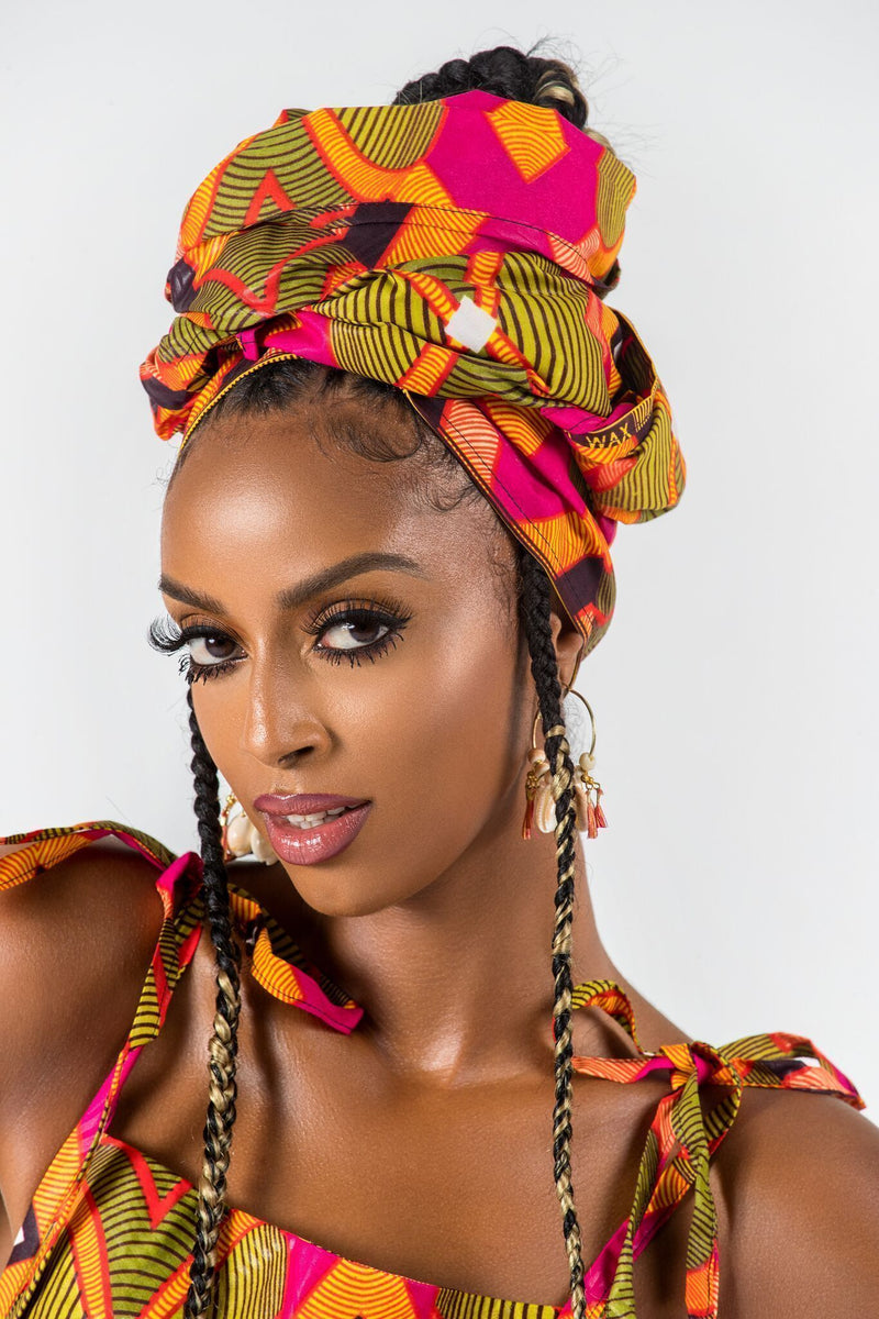 Grass-Fields headwrap African Print Philomene Headwrap