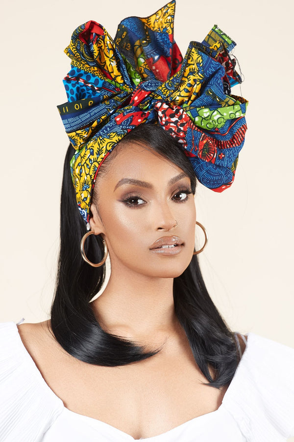 Grass-fields headwrap African Print Vane Headwrap