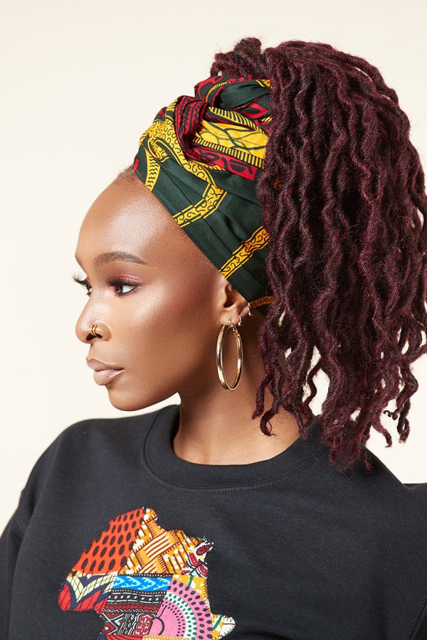 Grass-fields headwrap African Print Viviana Headwrap
