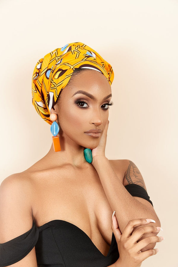 Grass-Fields headwrap African Print Yacine headwrap
