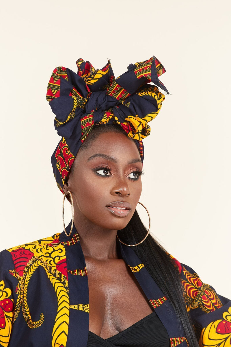 Grass-fields headwrap African Print Zandra Headwrap