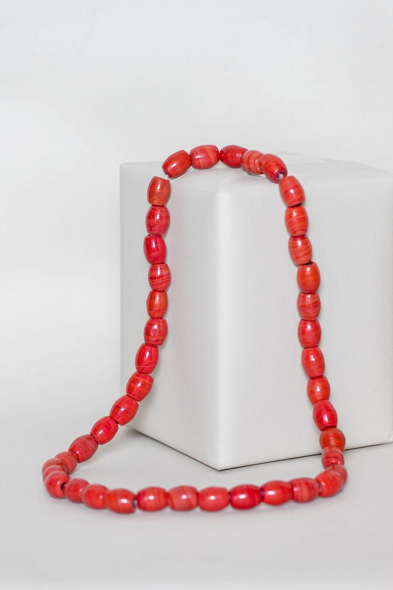 Red Kossi Necklace headwrap Grass-Fields