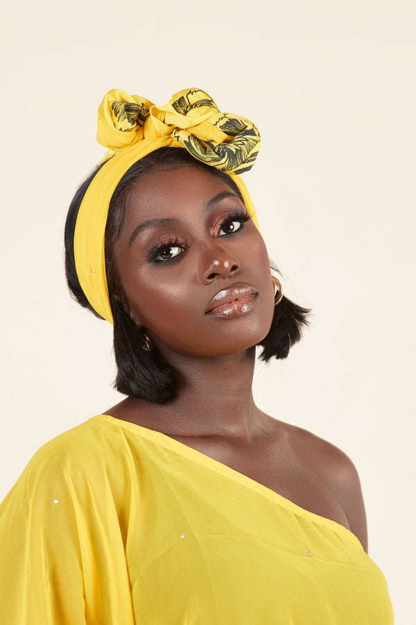 Grass-Fields headwrap Zuri Headwrap