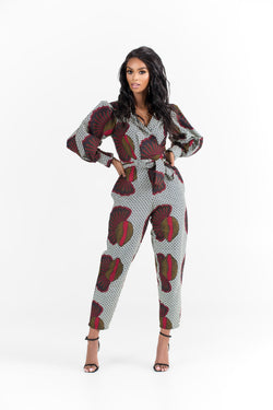 Grass-Fields Jumpsuit African Print Leena Jumpsuit