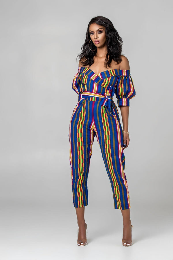 Grass-Fields Jumpsuit African Print Livia Jumpsuit
