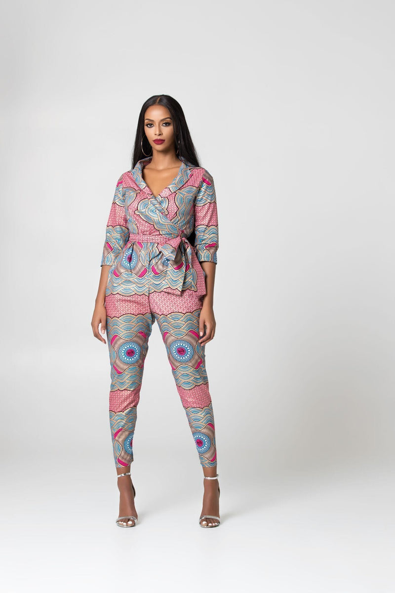 Grass-Fields Jumpsuit African Print Lolla Jumpsuit