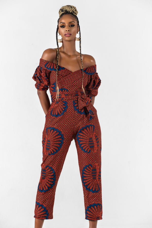 Grass-Fields Jumpsuit African Print Nabila Jumpsuit