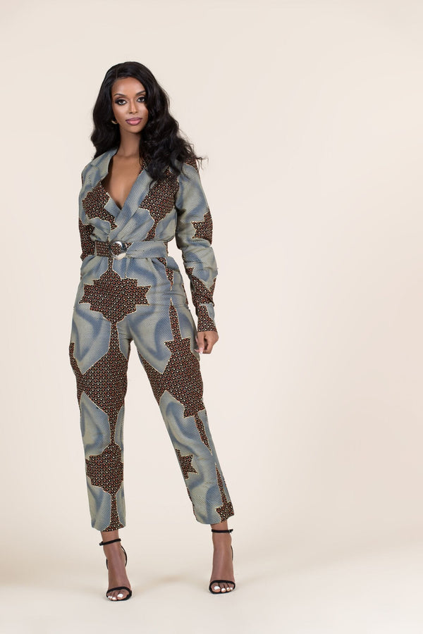 Grass-Fields Jumpsuit African Print Ode Jumpsuit