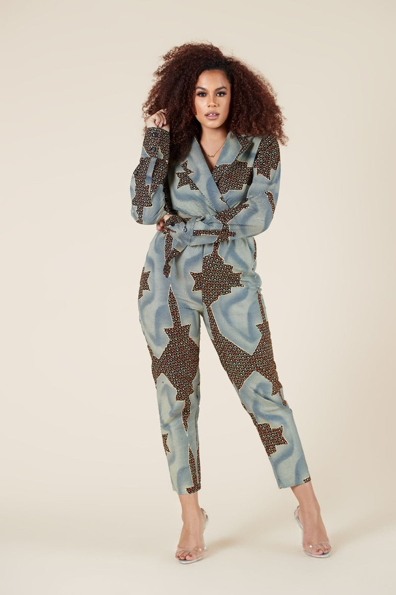 African Print Ode Jumpsuit