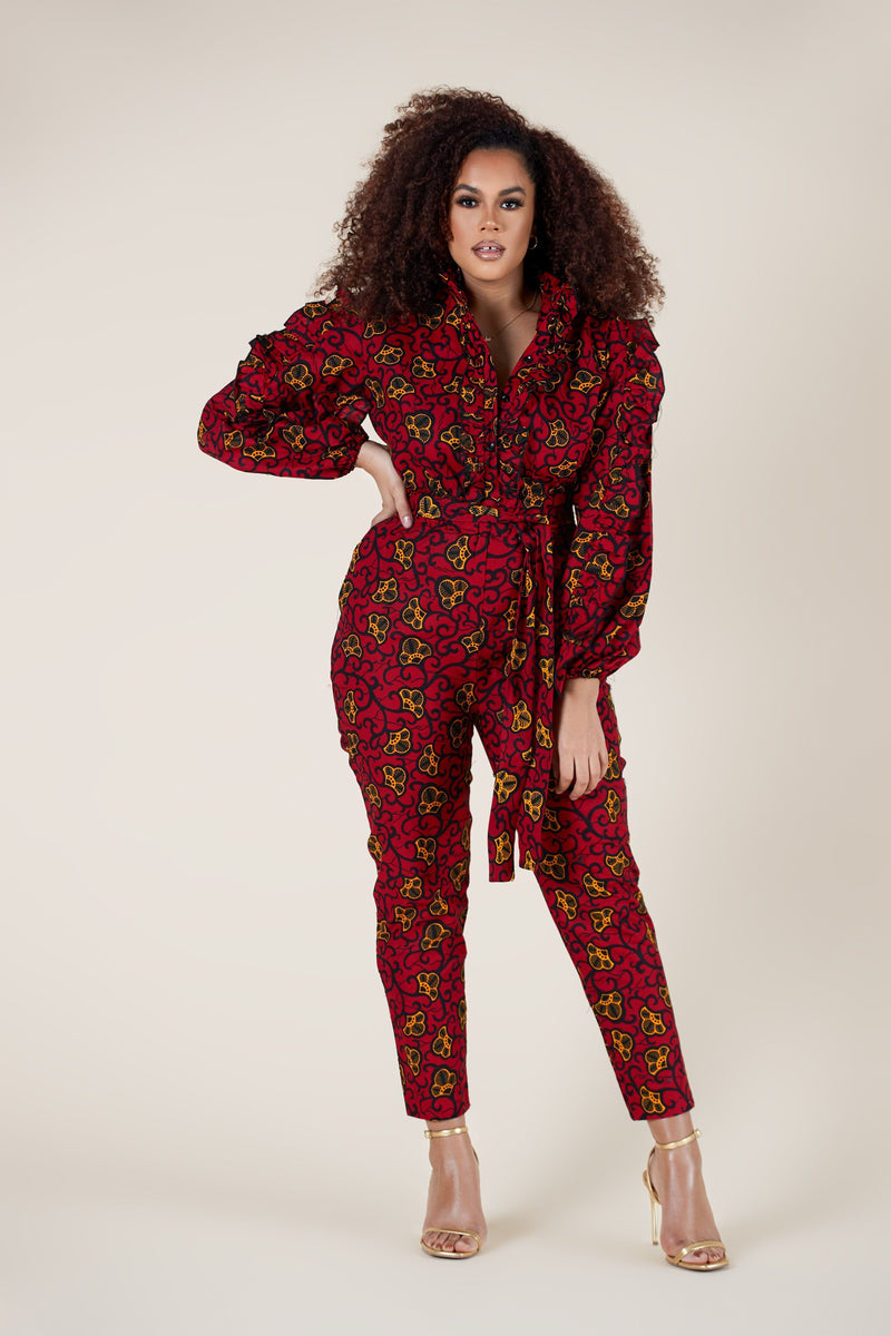 Grass-Fields Jumpsuit African Print Robyn Jumpsuit