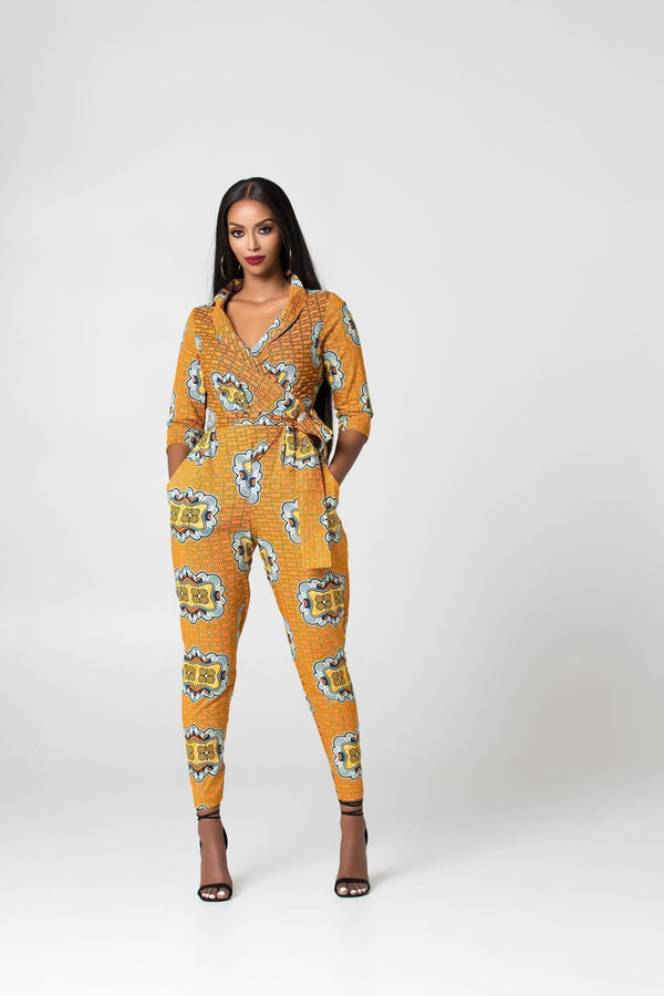 Grass-Fields Jumpsuit African Print Sanele Jumpsuit