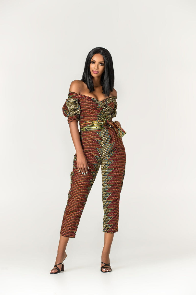 Grass-Fields Jumpsuit African Print Taja Jumpsuit