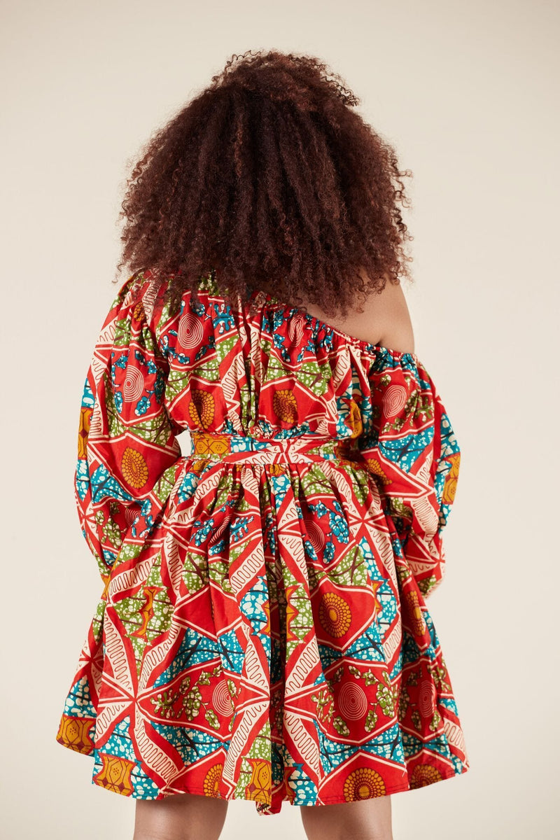 Grass-Fields Matching Sets African Print Annette Dress