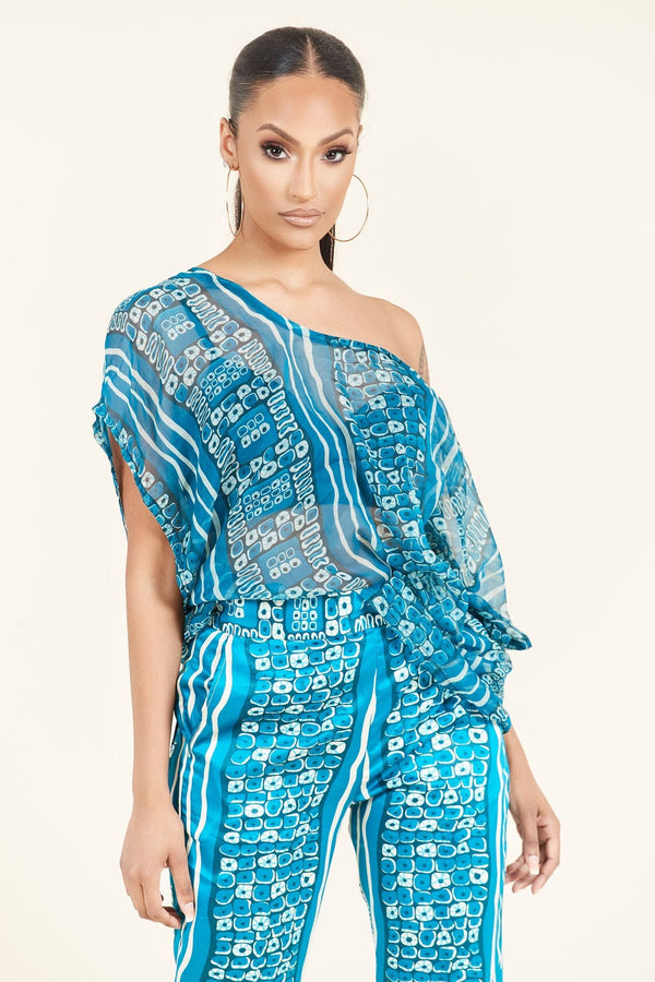 Grass-fields Matching Sets African Print Arya Top