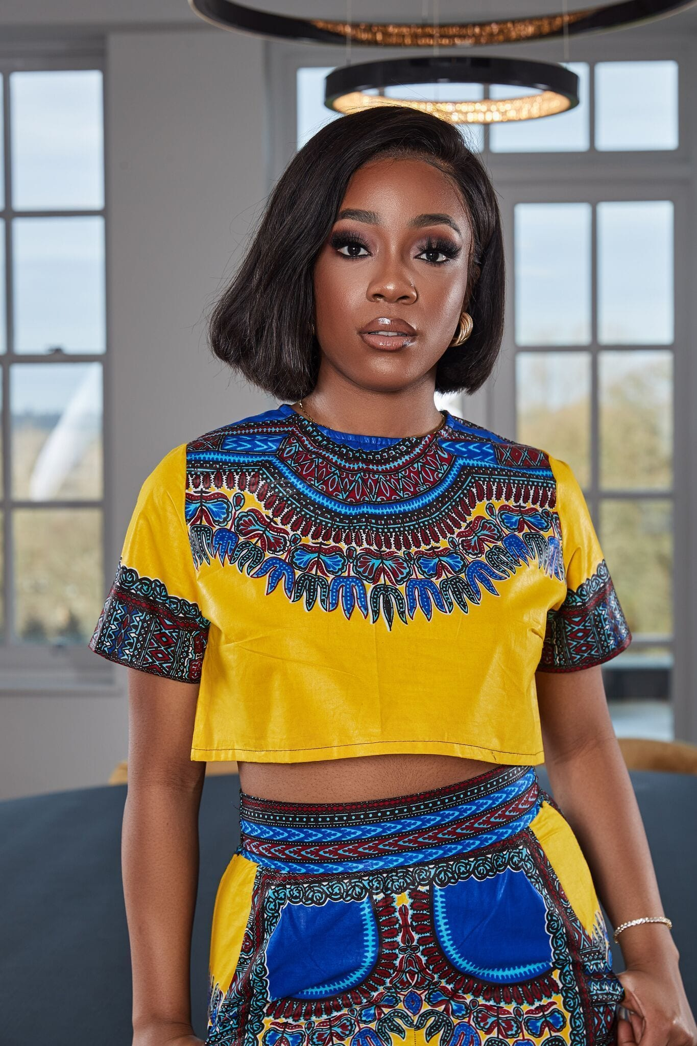 African Print Dashiki Nyla Crop Top