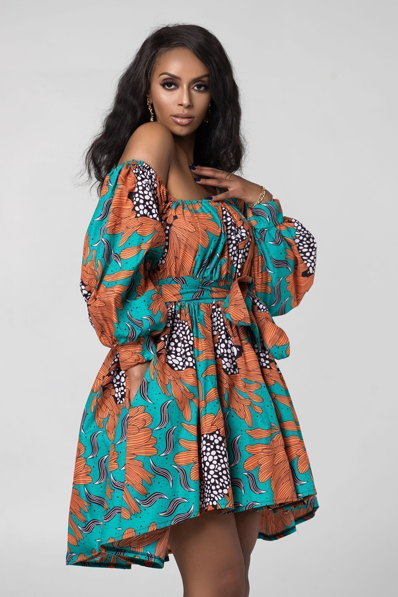 Grass-Fields Matching Sets African Print Eloise Dress