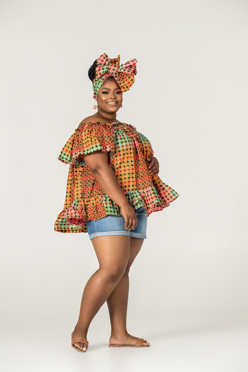 Grass-Fields Matching Sets African Print Fabienne Top