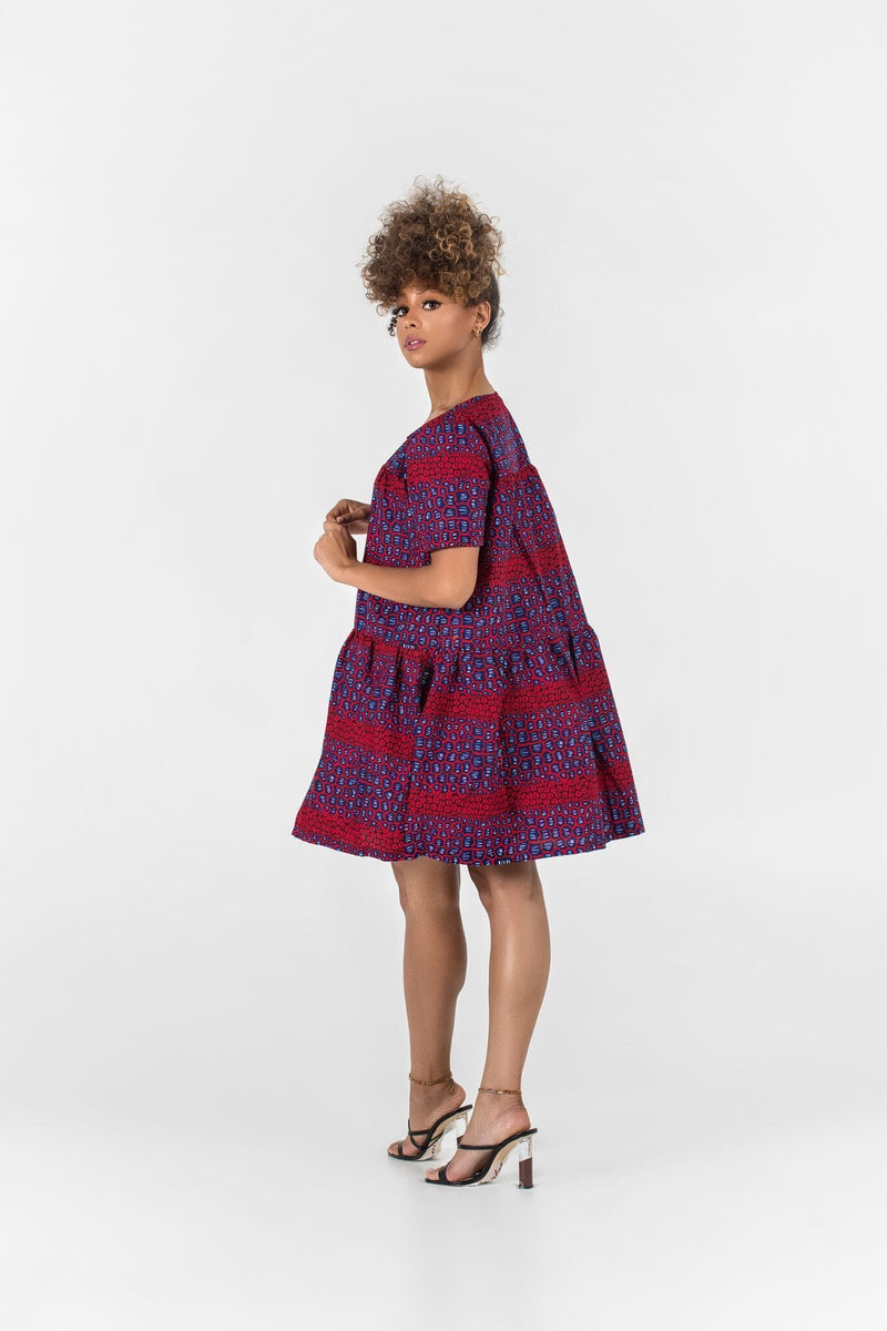 Grass-Fields Matching Sets African Print Giulia Dress